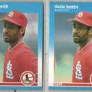 OZZIE SMITH (2) 1987 Fleer #308.  CARDS