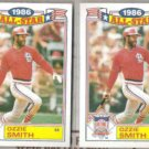 OZZIE SMITH (2) 1987 Topps Glossy All Star #5 of 22.  CARDS