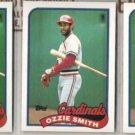OZZIE SMITH (3) 1989 Topps #230.  CARDS