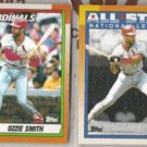 OZZIE SMITH 1990 Topps #590 +  All Star #400.  CARDS