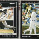 SAMMY SOSA 1992 + 1993 Pinnacle.  CUBS