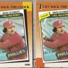 MIKE SCHMIDT (2) 1990 Topps TBTC #662.  PHILLIES