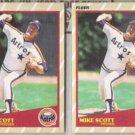 MIKE SCOTT (2) 1989 Fleer Superstars #37 of 44.  ASTROS