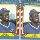 LEE SMITH (2) 1987 Fleer Limited Edition #39 of 44.  CUBS