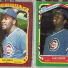 LEE SMITH 1986 + 1987 Fleer Star Stickers.  CUBS