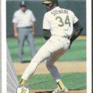 DAVE STEWART 1990 Leaf #81.  A's