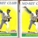 DAVE STEWART (2) 1991 Score No-Hit Club #702.  A's