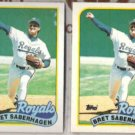 BRET SABERHAGEN 1989 Topps + Hi-Gloss.  ROYALS