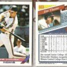 JIM THOME (2) 1993 Topps #603.  INDIANS