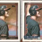 JIM THOME 1992 Topps Gold Winner w/ sister.  INDIANS