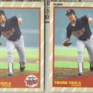 FRANK VIOLA (2) 1989 Fleer SuperStars #41 of 44.  TWINS