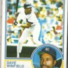 DAVE WINFIELD 1983 Topps #770.  YANKEES