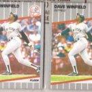 DAVE WINFIELD (2) 1989 Fleer #274.  YANKEES