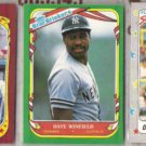 DAVE WINFIELD 1986, 1987 + 1988 Fleer Star Stickers.  YANKEES