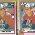 LARRY WALKER (2) 1990 Topps Rookie #757.  EXPOS