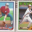 TIM WALLACH 1988 + 1989 Topps.  EXPOS
