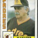 DICK WILLIAMS 1984 Topps #742.  PADRES