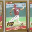 TODD WORRELL (3) 1986 Donruss Highlights.  CARDS