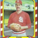 TODD WORRELL 1987 Fleer Limited Edition #43 of 44.  CARDS