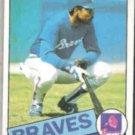 BOB WATSON 1985 Topps #51.  BRAVES