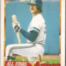 ROBIN YOUNT 1989 Topps Ames AS #5.  BREWERS