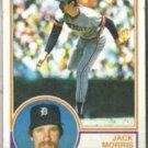 JACK MORRIS 1983 Topps #65.  TIGERS
