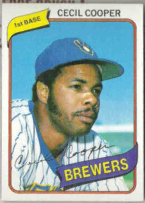 CECIL COOPER 1980 Topps #95.  BREWERS