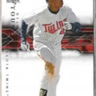 DELMON YOUNG 2008 UD SP Authentic #16.  TWINS