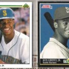 KEN GRIFFEY Jr. 1990 Upper Deck + 1991 Score.  MARINERS