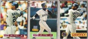 KEN GRIFFEY Jr. (3) diff 1994 Stadium Club Lot.  MARINERS