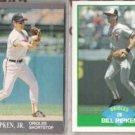 CAL RIPKEN 1991 Ultra + Billy 1989 Score.  ORIOLES