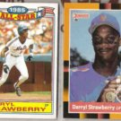 DARRYL STRAWBERRY 1986 Topps AS Glossy + 1988 Donruss Best.  METS
