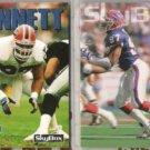 CORNELIUS BENNETT 1992 + 1993 Skybox.  BILLS
