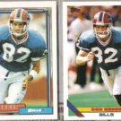 DON BEEBE 1992 Topps #68 + 1993 Topps #258.  BILLS