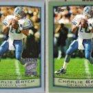 CHARLIE BATCH 1999 Topps Season Opener + 1999 Topps.  LIONS