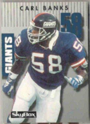 CARL BANKS 1992 Prime Time #075.  GIANTS