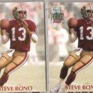 STEVE BONO (2) 1992 Pro Set Power #113.  49ers