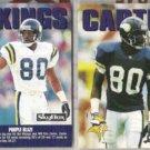 CRIS CARTER 1992 Skybox #292 + #84.  VIKINGS
