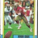 ROGER CRAIG 1990 Topps #12.  49ers