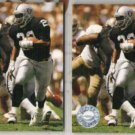 ROGER CRAIG (2) 1991 Pro Set Platinum #210.  RAIDERS