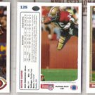 DEXTER CARTER (3) 1991 Upper Deck #125.  49ers