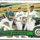 A's Team Card 2011 Topps #204.