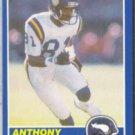 ANTHONY CARTER 1989 Score #20.  VIKINGS