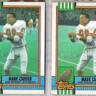 MARK CARRIER (2) 1990 Topps #405.  BUCS