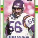 CHRIS DOLEMAN 1989 Topps #84.  VIKINGS