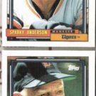 SPARKY ANDERSON (2) 1992 Topps #381.  TIGERS