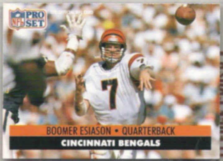 BOOMER ESIASON 1991 Pro Set #111.  BENGALS