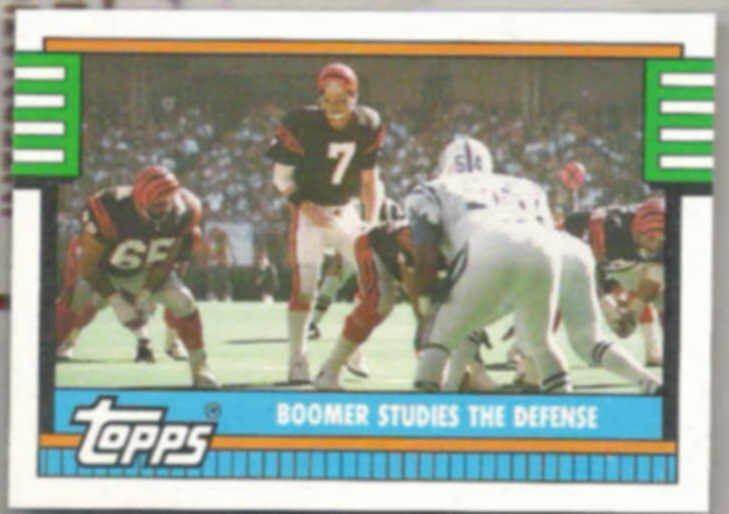 BOOMER ESIASON 1990 Topps #502.  BENGALS