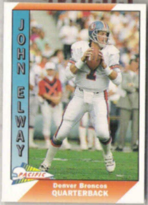 JOHN ELWAY 1991 Pacific #115.  BRONCOS