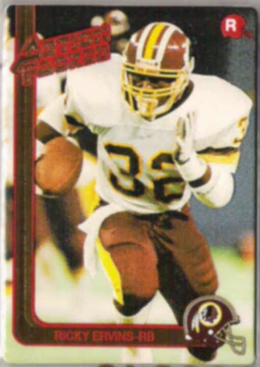 RICKY ERVINS 1991 Action Packed RC #33.  REDSKINS
